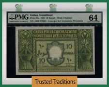 TT PK 13a 1950 ITALIAN SOMALILAND 10 SOMALI PMG 64 CHOICE UNCIRCULATED