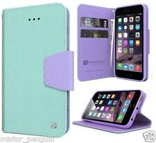 Apple IPHONE 6 Turquoise Leather TPU Wallet Cell Phone Case Stand Card Holder