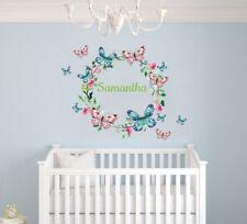 Custom Name Cute Butterflies   Baby Girl Nursery Wall Decal Decor    Butterfly
