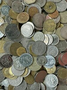 10 KILOS OF WORLD COINS JOB LOT OF UNSORTED AND UNCHECKED BULK RANDOM NICE COINS