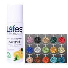 LAFES Deodorant Roll On Active - 2.5 oz. + Round Rhinestone Pendant Necklace