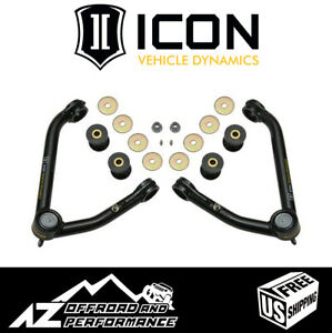 ICON Delta Joint Upper Control Arm Kit Large Taper For '07-'16 GM 1500 Truck