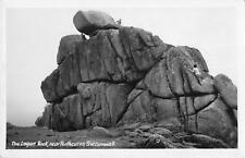 uk4362 the logan rock  real photo  uk