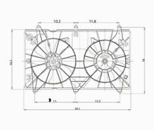 Dual Radiator and Condenser Fan Assembly TYC 620690 fits 03-07 Honda Accord