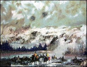 """Earl Biss """"Another Storm Along The Rockies"""" serigraph on Paper Hand Signed"""