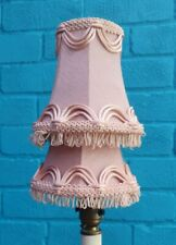2 Vintage Pink Small Chandelier Wall Ceiling Candle Clip Lampshade Light Shade