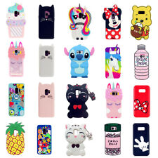 Cute 3D Cartoon Silicone Case Cover For Samsung Galaxy S10 9 8 7 Plus Note 5 4 3
