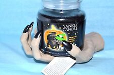 Yankee Candle Halloween Wicked Web Witch Hand  PURR-CHOULI 14.5 oz Jar Cat Label