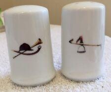 Salt & Pepper W/ Stirrup And Helmet Porcelain New by The Huntsman
