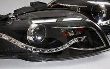 Phares pour Audi a4 b7 8e 04-08 Cabrio phare de jour tfl-Look Noir Black