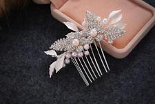 CRISTAL accessoires perles MARIAGE Peigne à Cheveux Strass COIFFURE 1 pièce