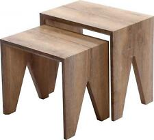Finley Nest of Tables in Medium Oak Effect Veneer