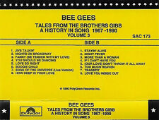 BEE GEES TALES FROM BROTHERS GIBB HISTORY IN SONG 1967-1990  PROMO CASSETTE VOL3