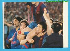 125 FC.BARCELONA Vs FORTUNA DUSSLEDORF STICKER FOOTBALL 1980 BENJAMIN RARE NEW