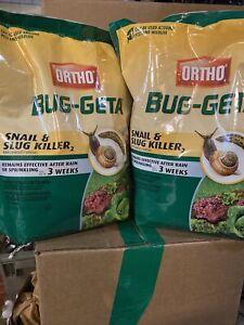 (2) Ortho Bug-Geta Snail and Slug Killer, 3.5 Lb ea