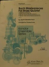 Brass Quartet: Bach Masterpieces for Brass Quartet arr Charles Evans New