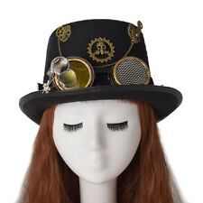 Vintage Top Hat Gear Magnifying Glass Hat Steampunk Hat Halloween Party Hat