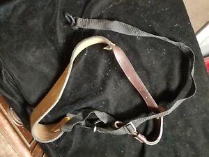 Vintage THOMCO Rifle Shotgun Leather Sling Strap USA Made