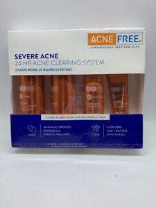Acne Free Severe Acne 24 HR  3 STEP CLEARING SYSTEM  NEW  EXP: 12/2020