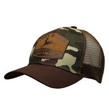 John Deere Hat, John Deere Cap, Trucker hat. 13080402   NWT. Camo/ Brown