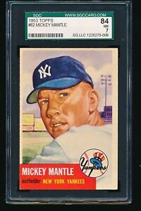 1953 Topps MICKEY MANTLE #82 SGC 7