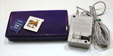 Nintendo 3DS Console Purple CTR-001 Super Mario 3D Land 2GB Memory Card Charger