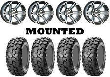 Kit 4 CST Clincher Tires 25x8-12/25x10-12 on ITP SS212 Machined Wheels POL