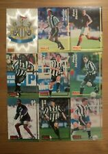 9 x NEWCASTLE UNITED Merlin Ultimate Football Cards 1995 1996 Premier League