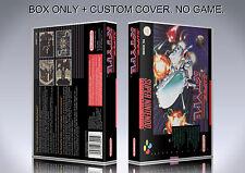 SUPER R TYPE. PAL FORMAT. Box/Case. Super Nintendo. BOX + COVER. (NO GAME).