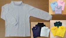 1PC or 2PCs Kids Boys Girls Unisex Cotton Skivvy Long Sleeve Top School Uniform
