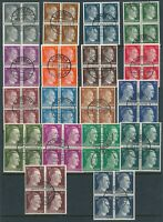Lot Stamp Germany WWII 3rd Reich Hitler Blocks Cancelled May 5 1945 CTO