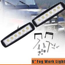 18W 6000K LED Work Light Bar Driving Lamp Fog Off Road SUV Car Boat Truck 4WD