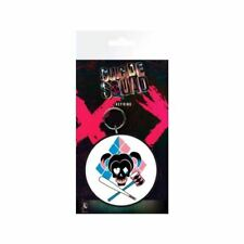 Suicide Squad Harley Quinn Skull Rubber Keyring Keychain - DC Comics