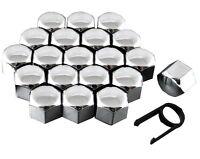Set 20 17mm Chrome Car Caps Bolts Covers Wheel Nuts For Suzuki Swift Vitara