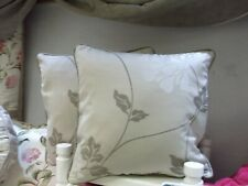 """a 20"""" X 16"""" Cushion Cover Laura Ashley Isodore Truffle Fabric Both Sides Piped"""