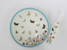 LESSER AND PAVEY BUTTERFLY MEADOW FINE CHINA CAKE PLATE AND SERVER LP91062
