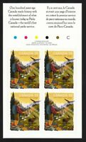 PARKS = BOOKLET PAGE 4 W/ DESCRIPTION & COLOUR ID MNH Canada 2011#2470