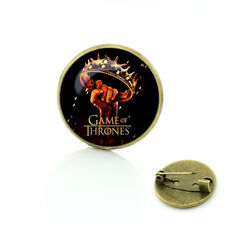 GAME OF THRONES CROWN SHIELD PIN DIRE WOLF Cosplay collectible gift US seller