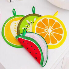 Round Hanging Kitchen Hand Towel Fruit Print Fiber Towel Cleaning Rag Dish Cloth