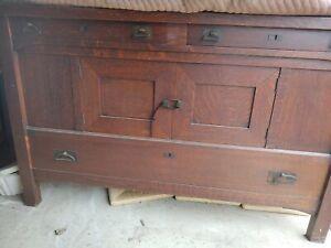 Arts & Craft Antique Mission Quartersawn Oak Sideboard Buffet Server