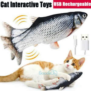 Electric Realistic Interactive Fish Cat Kicker Crazy Motion Activated Pet Toy