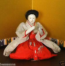 Antique Gofun Asian Japanese Young Lady In Waiting Meiji Hina Doll DA4161412ii