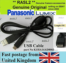 Original Véritable Panasonic Lumix DMC-FZ40 Câble USB DMC-FZ38 DMC-GH1 DMC-GH2 GF2