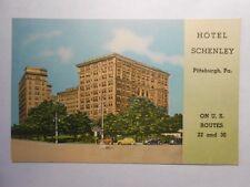Old Postcard, Pittsburgh, Pennsylvania, Hotel Schenley
