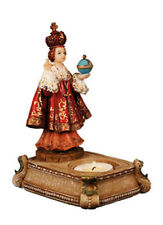 Jesus of Prague -Tea Light Candle Holder Statue - Holy Religious Gift Tealight