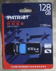 Patriot 128GB Supersonic Rage Flash Drive USB 3.2 Up To 180MB/sec