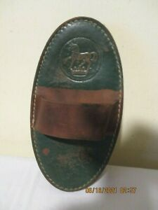 Vintage Antique Real HORSEHAIR & Leather Horse Grooming Brush