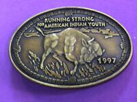 RUNNING STRONG FOR AMERICAN INDIAN YOUTH** BELT BUCKLE 1997