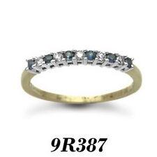 Excelente 9 Quilates Oro Amarillo 25pts Diamante Redondo Corte Anillo De