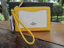 NWT COACH COLORBLOCK WRISTLET 58364B CANARY YELLOW